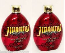 LOT OF 2 AUSTRALIAN GOLD JWOWW MAD HOT 100X TINGLE BRONZER $150 RTV + GOGGLES