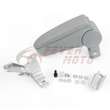 Gray Center Console Leather Armrest Storage For VW Golf Jetta Bora Mk4 99-04 FM