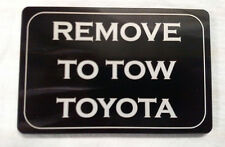 Remove To Tow Toyota, Billet Aluminum Hitch Cover,   3x5,  Made In USA