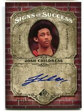 Josh Childress AUTO Signs of Success #SOS-JC Upper Deck SP Signature Edition /10
