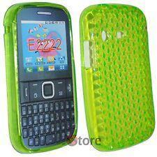 Cover Custodia Per SAMSUNG Chat Ch@t Dual Sim E2222 Silicone Verde Gel TPU