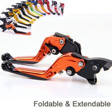 Fold Extend Brake Clutch Levers For Ktm 640 LC4 Supermoto 2003-2006 2004 orange