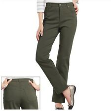 Gloria Vanderbilt Women Size 18 Short Fresh Olive Green Amanda Tapered Leg Jeans