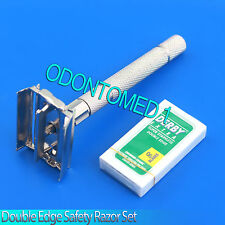 ODM-Grandpa's Classic Vintage Style Double Edge Safety Razor ,6 Blades