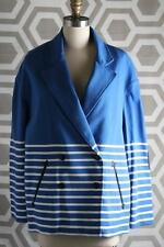 NWT Boy By Band of Outsiders Boxy Pea Jacket 3 $898 Blue Striped