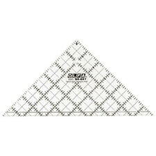 """*OLFA 6 1/2"""" Right Triangle Frosted Clear Acrylic Ruler QR-6RT"""