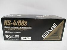 """LOT OF 10"" MAXELL HS-4/60s 1.3GB 4mm 60 M/197 FT.DIGITAL DATA STORAGE CARTRIDGE"