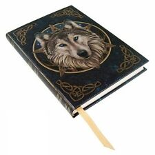 Wild One Wolf Journal Blue Lisa Parker Diary Blank Book Foil Embossed Celtic