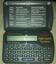 FRANKLIN ENGLISH SPANISH POCKET TRANSLATOR TES-106 TRAVEL ACE PLUS DATABANK