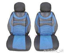 PREMIUM BLUE FRONT SEAT COVERS CUSHION UNIVERSAL CAR VAN TRUCK MOTORHOME LORRY