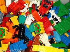 LEGO DUPLO 1 KG BAUSTEINE DUPLOSTEINE BAUPLATTE MÄNNCHEN AUTO TIER MOTIVSTEINE