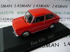 voiture 1/43 RBA Italie IXO : FIAT  850 1967 rouge