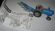 CORGI 67 FORDSON 5000 SUPER MAJOR ORIGINAL GOOD PLAYWORN TRACTOR WITH PLOUGH.