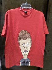 STUSSY BEAVIS AND BUTTHEAD BUTT-HEAD MTV T SHIRT LARGE NEW RARE, 2011, AUTHENTIC