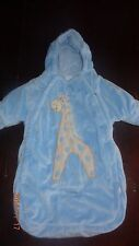 Baby Boy Snowsuit bag Giraffe slit car seat buckle 0-9 months. Bon Bebe