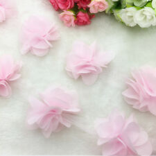 New Hot 1 Yard Light Pink Flower Chiffon Wedding Dress Bridal Fabric Lace Trim