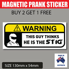 THE STIG Funny Prank Magnetic Bumper Sticker