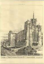 1893 Design For New Cathedral Victoria British Columbia, H Wilson Architect