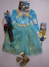 NWT Disney Store Brave L 9-10 Merida Costume Wand Shoes Tiara Bow & Arrow Set