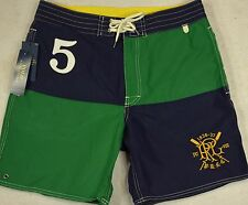 Polo Ralph Lauren Swim Trunks Swimming Board Surfing Shorts Size 34 NWT