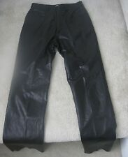 The Tannery West Straight Leg Leather Pants Size 6 Super Shape Mint