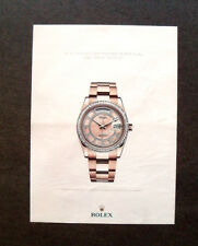 M544 - Advertising Pubblicità - 2013 - ROLEX OYSTER PERPETUAL DAY DATE SERTIE