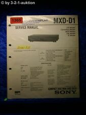 Sony Service Manual MXD D1 (#1365)