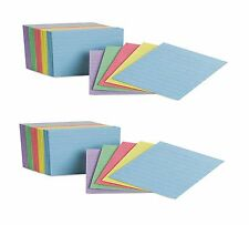 """Oxford Mini Index Cards Ruled 3 x 2-1/2"""" Rainbow Colors 200 Cards - (Pack of 2)"""