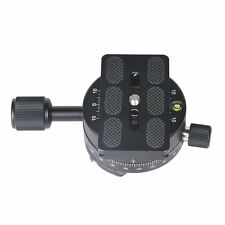 360° Panoramic Panning Base+Quick Release QR Plate For Tripod Camera Ball Head