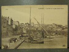 cpa 06 cannes le port et le quai st pierre