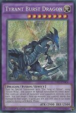 YU-GI-OH CARD: TYRANT BURST DRAGON - SECRET RARE - DRL2-EN004 - 1st EDITION
