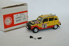 Mini Racing Kit monté 1/43 - Renault 4 4L Paris Dakar 1979
