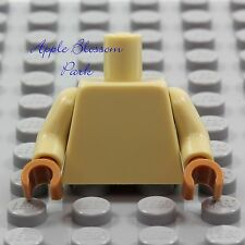 NEW Lego Girl/Boy Minifig Plain TAN TORSO Blank Body Upper Med Dark Flesh Hands