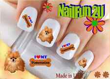 "RTG Set#142 DOG BREED ""Love my Pomeranian"" WaterSlide Decals Nail Art Transfers"
