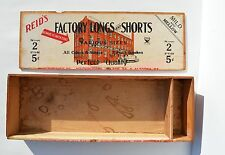 RARE ANTIQUE REID'S FACTORY LONGS AND SHORTS CIGAR BOX GREAT GRAPHIC NRA MARKING