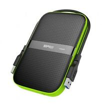 1TB Silicon Power Armor A60 Shockproof Portable Hard Drive -USB3.0 -Black/Green