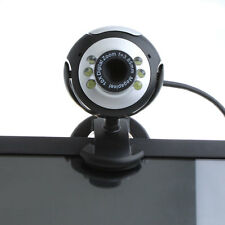 6 LED 50 Mega Pixel HD Webcam con Microfono per PC Laptop Skype spedizione in UK