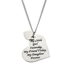 My Little Girl Yesterday, My Friend Today, My Daughter Forever, Daughter Pendant