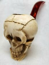 Large Skull Pipe Antique Vintage Meerschaum