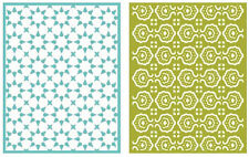 "Quickutz/Lifestyle Crafts EF0028 Tile  2 Embossing Folders Size 4.25""x5.5"""