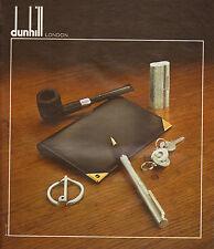 Publicité Advertising 1978  dunhill LONDON stylo briquet porte clés pochette ...