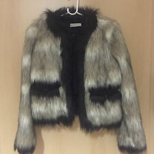 Lanvin for H&M Jacke Felljacke Fake Fur EUR Gr. 38 size US 8 UK 12