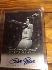 2012 Leaf The Living Legend Autograph Auto #AU-10 Pete Rose Reds