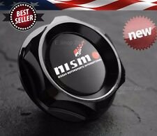 M32 x 3.5 Slant Black Engine Oil Cap Filler Cover w/ Nismo For Nissan Infiniti