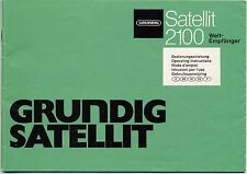 Operating Instructions-Bedienungsanleitung mit Schema Grundig Satellit 2100
