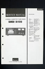 SANSUI SC-5110 Original Stereo Cassette Tape Deck Service-Manual/Schaltplan o106