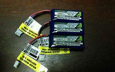 3 new Turnigy Nano-Tech 300mah 2S 35C LiPo Battery EFLB2002S25 UMX MIG Stryker