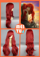 Disney Little Mermaid Princess Ariel Bounty Hunter Long Red Curly Cosplay Wig