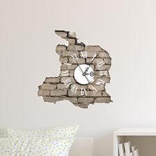 Orologio da parete 3D decalcomania muro mattoni a vista