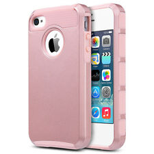 Rose Gold Shockproof Rubber Matte Dual Layer Hard Case For Apple iPhone 4 4S 4G